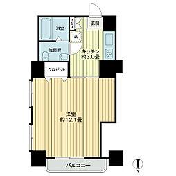 シャンボール川崎[2階]の間取り