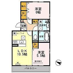 山口県下関市一の宮本町2丁目の賃貸アパートの間取り