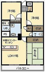 NoaHome神宮[102号室]の間取り