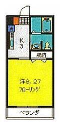 相鉄本線 瀬谷駅 徒歩5分の賃貸アパート 1階1Kの間取り