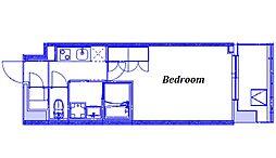 JR京浜東北・根岸線 大宮駅 徒歩9分の賃貸マンション 2階1Kの間取り