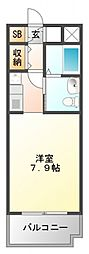 レジディア江坂[2階]の間取り