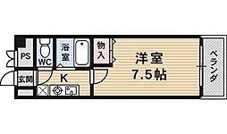 サンロイヤル藤ノ森[407号室号室]の間取り
