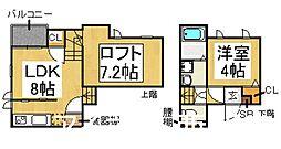 福岡市地下鉄空港線 室見駅 徒歩5分の賃貸アパート 1階1SLDKの間取り