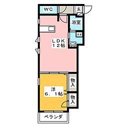 ラカーサY&K(La Casa Y&K)[3階]の間取り