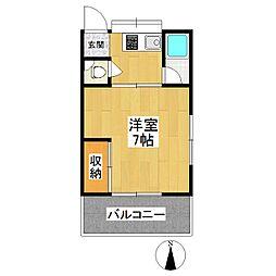 東京都狛江市東野川1丁目の賃貸アパートの間取り