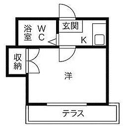 愛知県名古屋市中川区中島新町2丁目の賃貸アパートの間取り