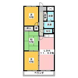 Comfort高蔵寺[3階]の間取り