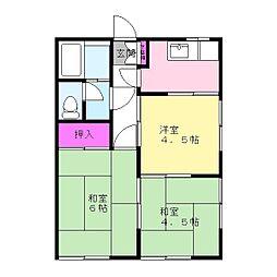 小林コーポ[2階]の間取り