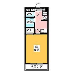 グリーンベル桜島[3階]の間取り