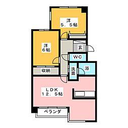 浅井コーポV[3階]の間取り
