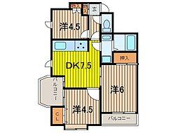 シンセリティハイツ[4階]の間取り