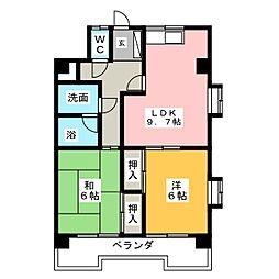 坂井戸マンション[4階]の間取り
