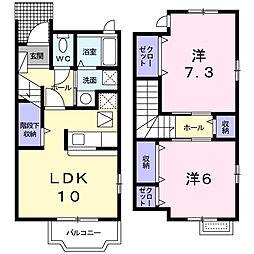 瀬谷区阿久和西1丁目 パルティールA[1階]の間取り