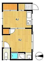 矢野荘[2階]の間取り