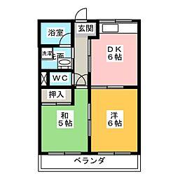 アメニティハイム21[1階]の間取り