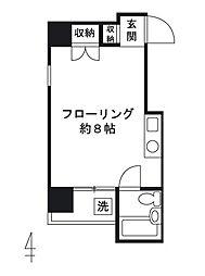 ピドル川田[4階]の間取り