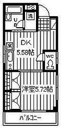 埼玉県春日部市小渕の賃貸マンションの間取り