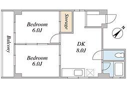 東海林ビル[4階]の間取り