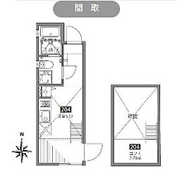 ソシガヤテラスN[2階]の間取り