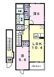 サウザンドクレイン[2階]の間取り
