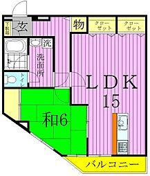 マリーハイム[2階]の間取り