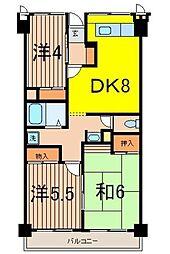 ソレイユ久保[5階]の間取り