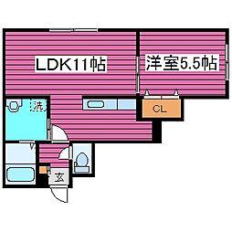 北海道札幌市東区北三十九条東14丁目の賃貸アパートの間取り