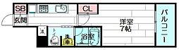 ルナコート江坂[6階]の間取り