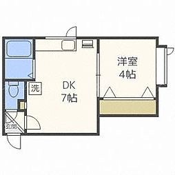 アークコート栄町II[2階]の間取り