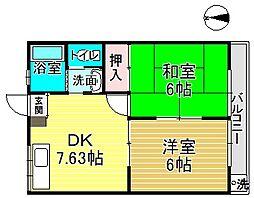 東京都江戸川区南小岩4丁目の賃貸アパートの間取り