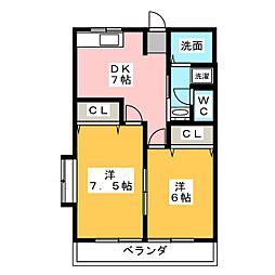 さくら館21[2階]の間取り