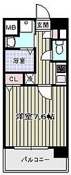 ブランパレス寺田町[5階]の間取り