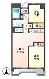 ビレッジハウス笠寺タワー[6階]の間取り