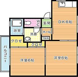 コムハウス壱番館[2階]の間取り
