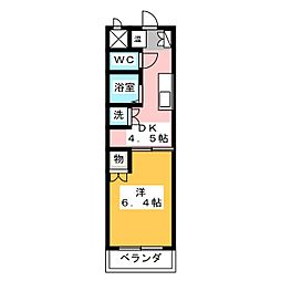ユニオンハイツ日比野[1階]の間取り