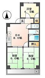 メゾンあしび[3階]の間取り