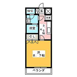 サンコート瀬戸II[1階]の間取り