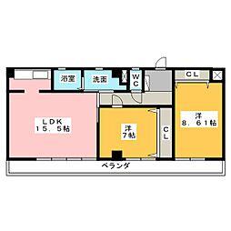ハウスKV[2階]の間取り