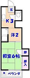 菊田マンション[4B号室]の間取り