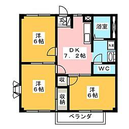 ピアーハイツ柴田II[2階]の間取り