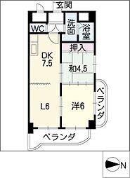 小坂プリンシア[4階]の間取り