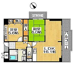 ポルト堺II[8階]の間取り