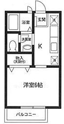神奈川県横浜市港北区仲手原2丁目の賃貸アパートの間取り