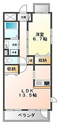 グランジェ東甲子園[5階]の間取り