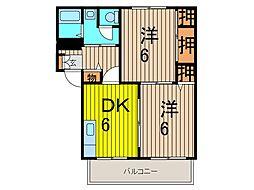 シーズ桜C[2階]の間取り