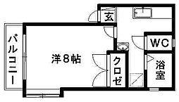 静岡県浜松市中区佐鳴台3丁目の賃貸アパートの間取り