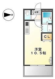 兵庫県姫路市砥堀の賃貸アパートの間取り