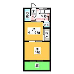 三杉荘[1階]の間取り