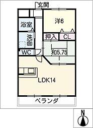 サンパティーク岡崎[2階]の間取り